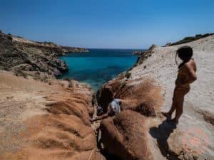 climb down to tsigrado beach