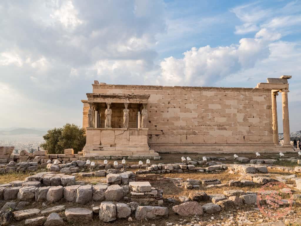 erechtheion acropolis ruins