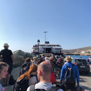 folegandros queue for ferry