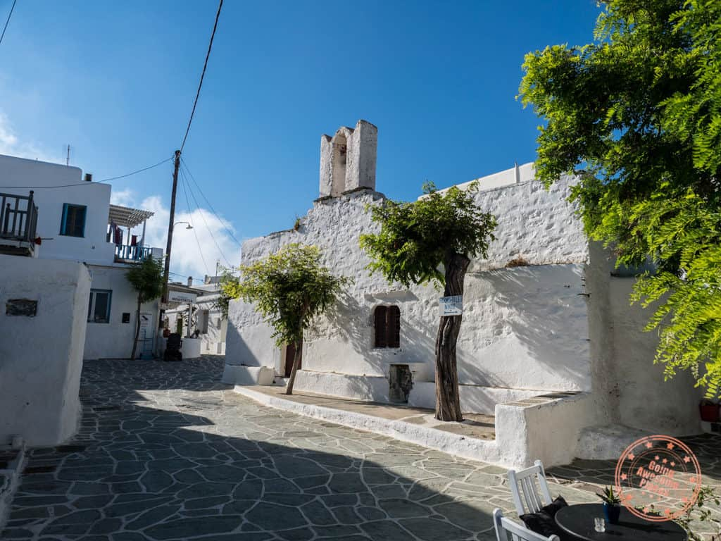 folegandros chora town during mid day