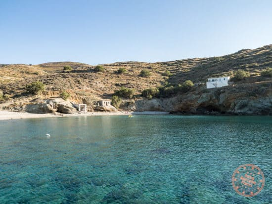 georgios beach looking back in