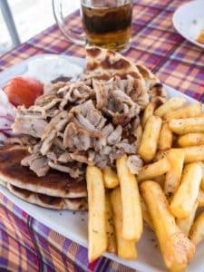 gyros mamas food perissa santorini