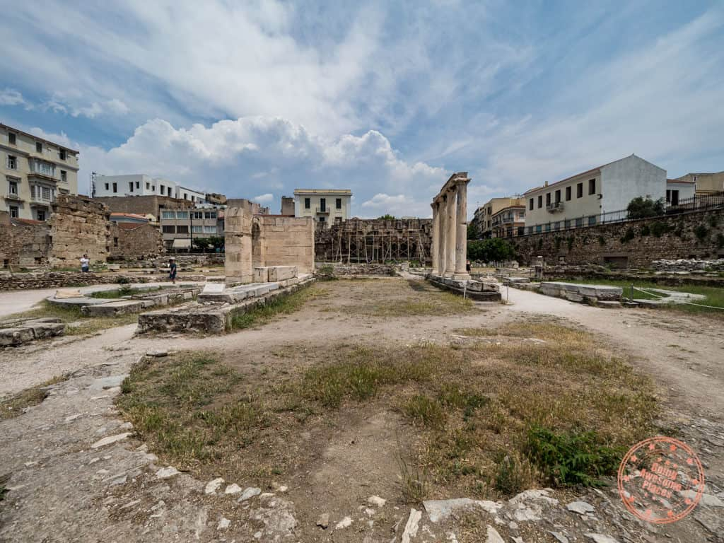 hadrians library ruins athens