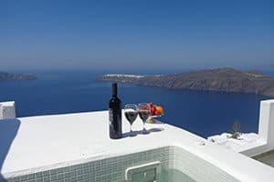 where to stay in imerovigli langas villas