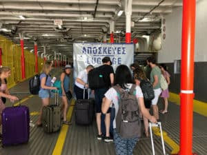 luggage storage procedure greek ferry