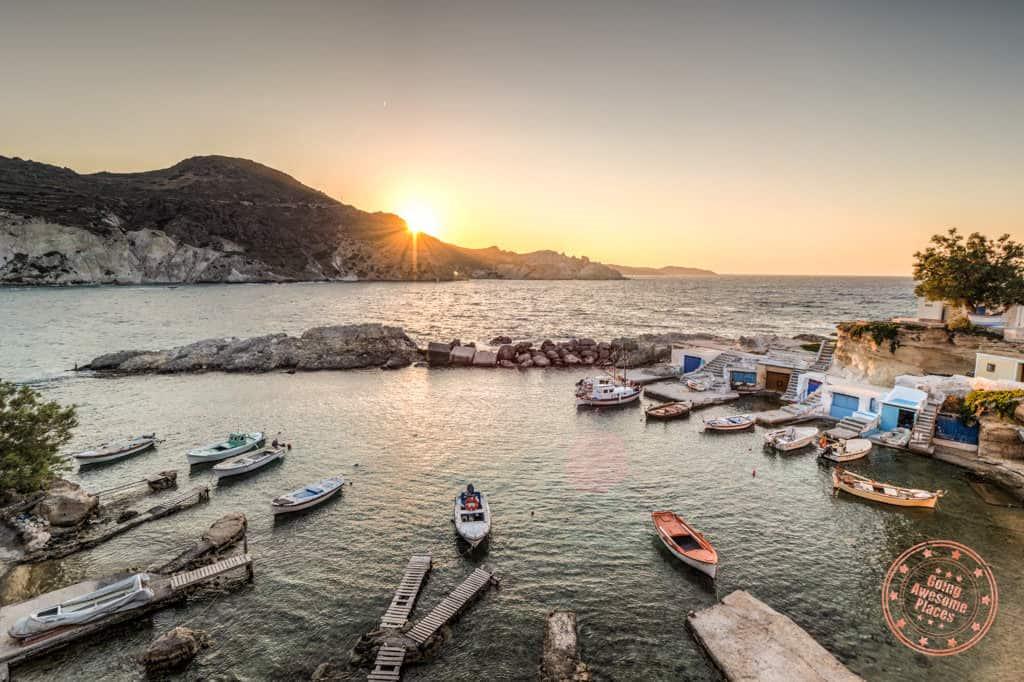 mandrakia milos fishing village in milos greece