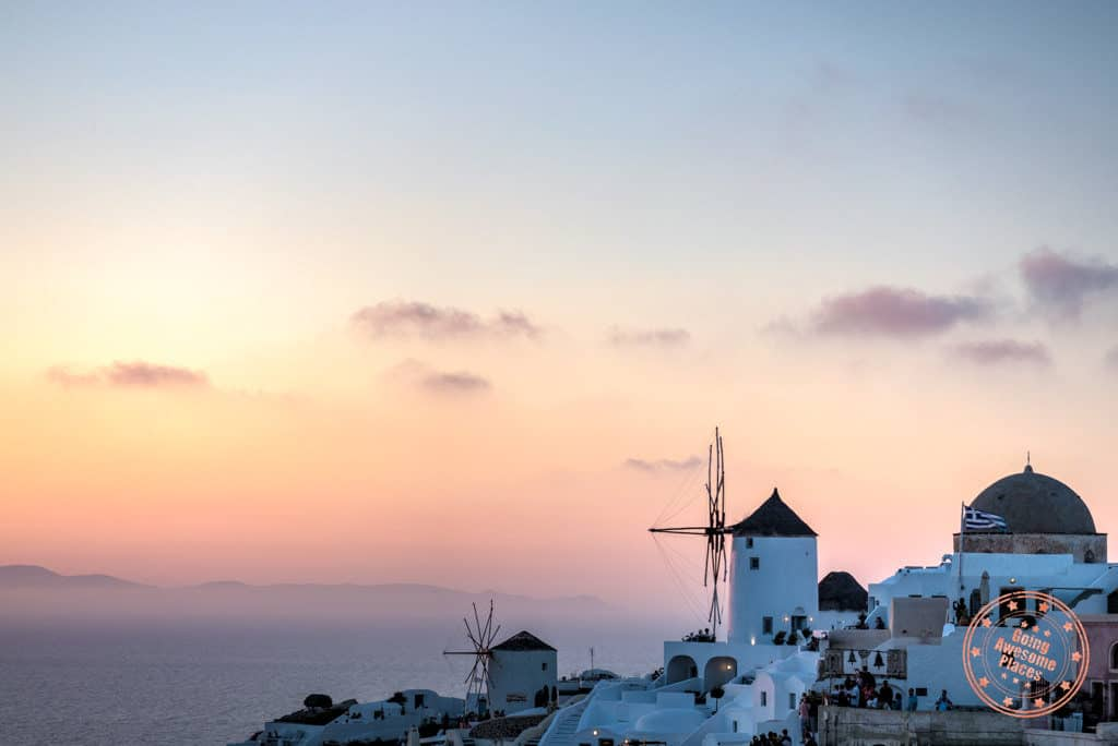 oia famous sunset in santorini things to do