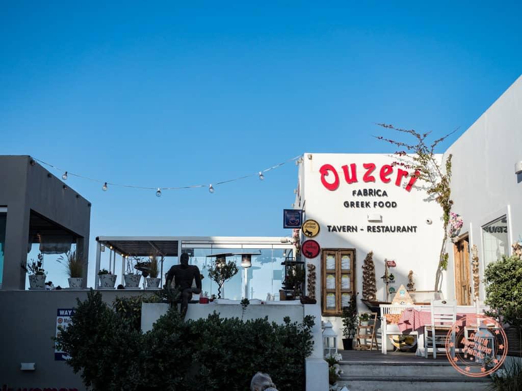 ouzeri greek taverna in fira santorini exterior
