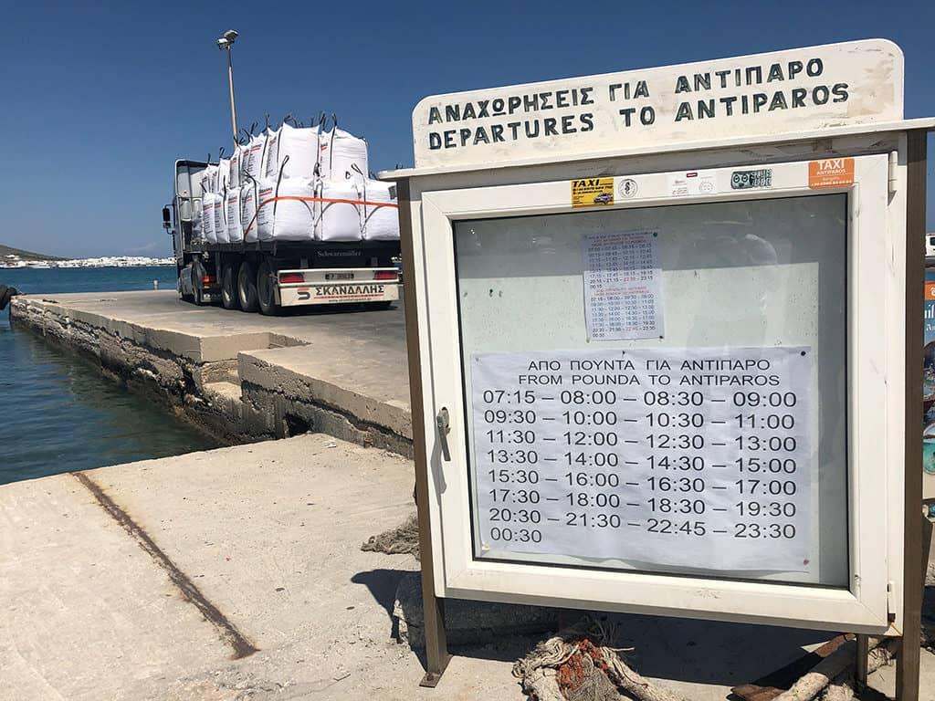 paros to antiparos ferry schedule