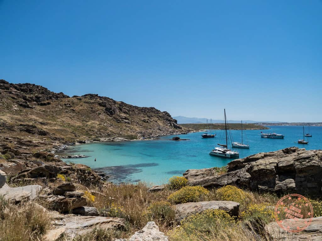 paros park and monastiri beach view
