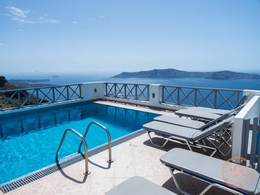 prekas apartments santorini pool level