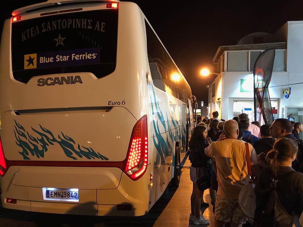 santorini bus from oia