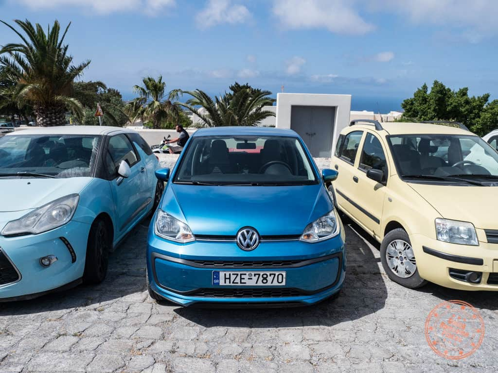 santorini car rental volkswagen up