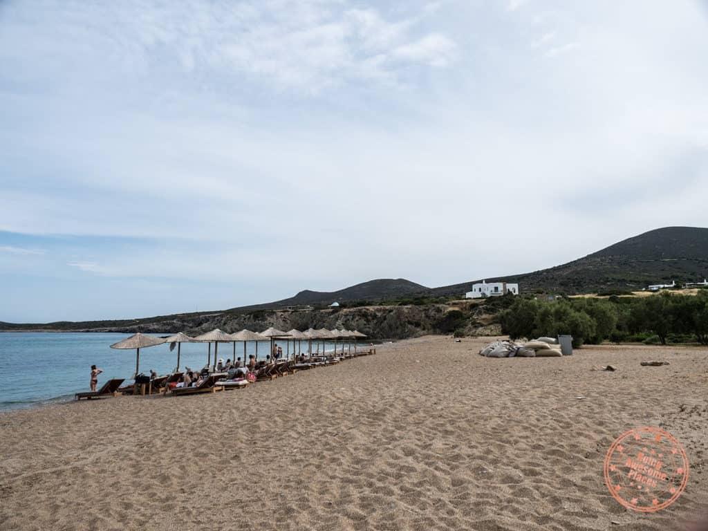 soros beach antiparos greece