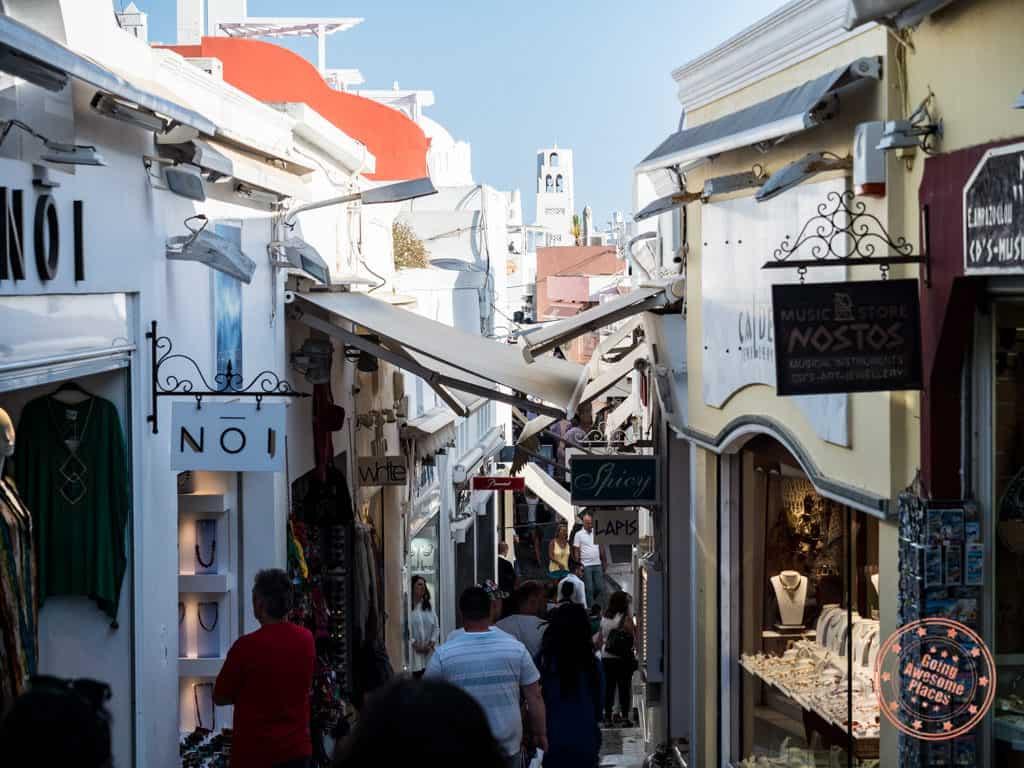streets of fira santorini