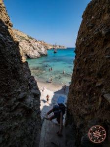climb back up from tsigrado beach