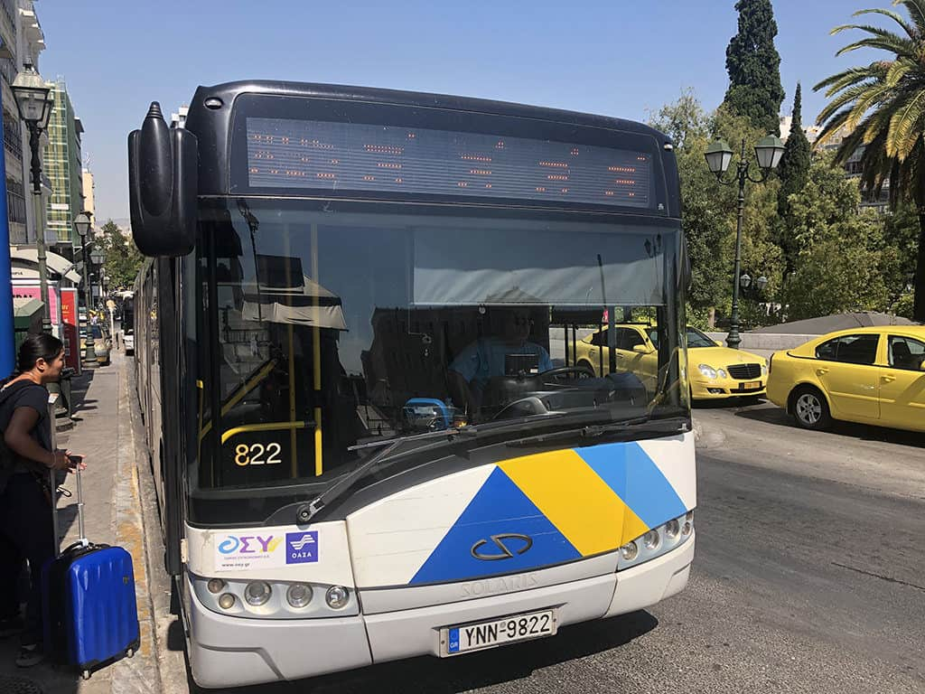 bus x95 at syntagma square to airport