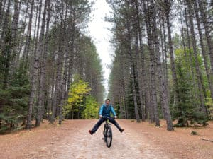 cycling at mikisew provincial park