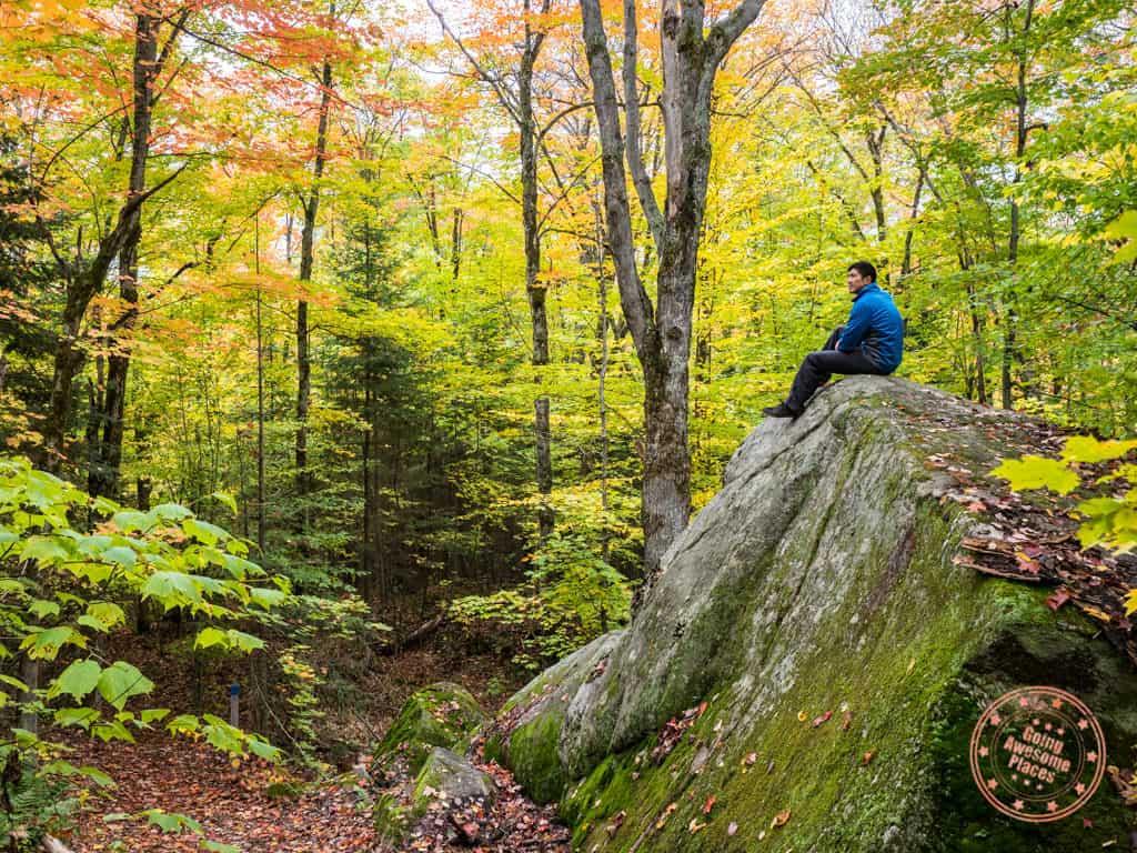 mikisew maple canyon trail rocks outcrop ontario parks