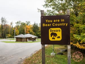 restoule bear country sign