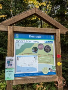 restoule provincial park ontario fire tower trail map sign