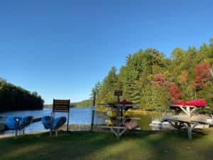 restoule kayak canoe rental at dock