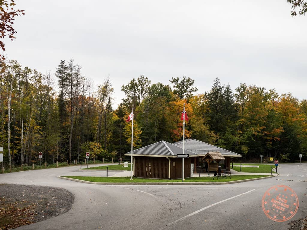 restoule park office at entrance
