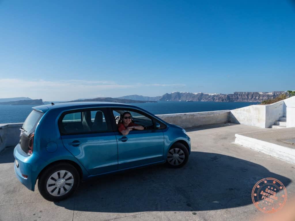 santorini car rental from jimmys in imerovigli