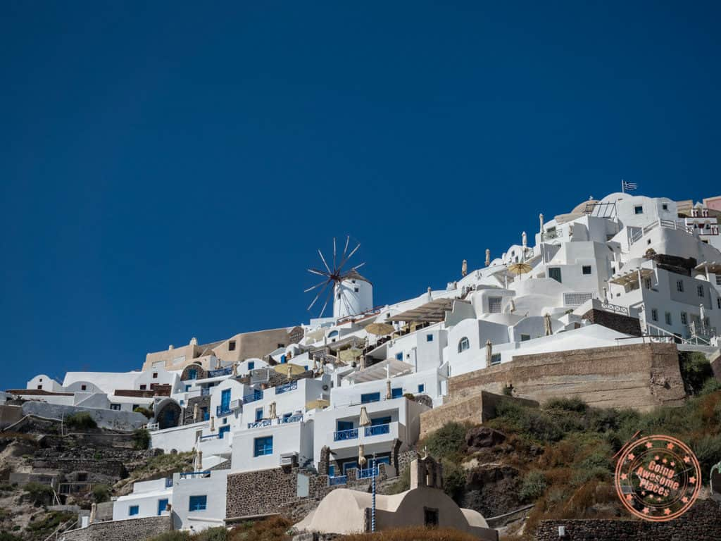 santorini in 3 days with windmills from ammoudi bay in