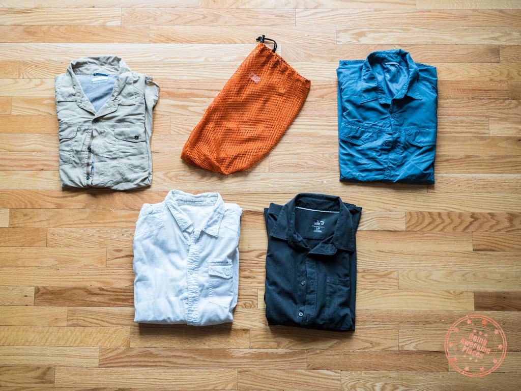egypt packing list buttoned shirts