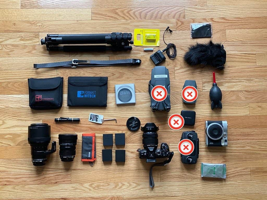 camera gear what to pack for egypt
