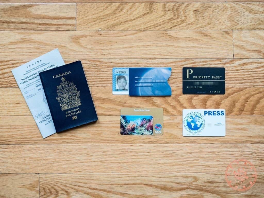 passport and important documents and cards for egypt travel