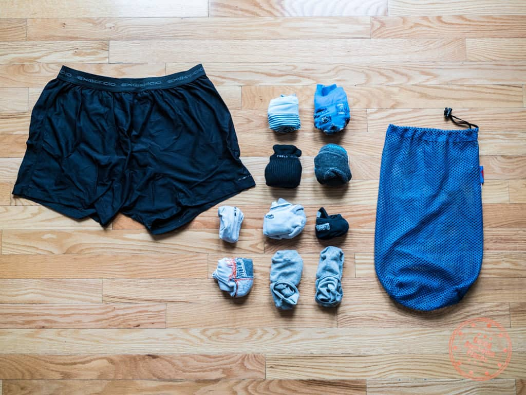 underwear and socks for egypt trip