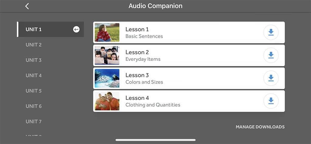 audio companion for japanese rosetta stone
