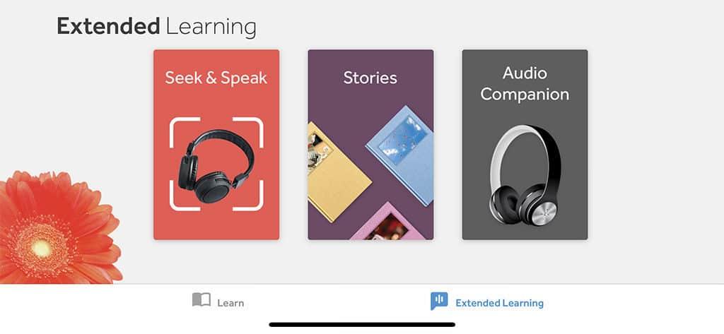 extended learning on mobile app for rosetta stone japanese
