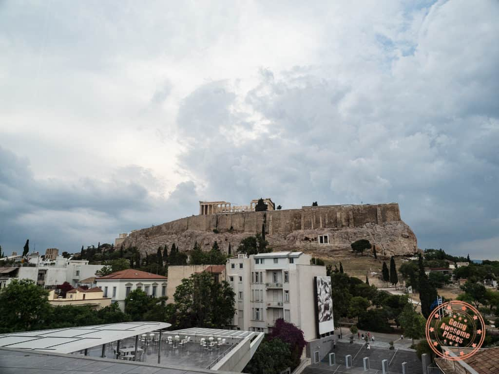 view from the new acropolis museum