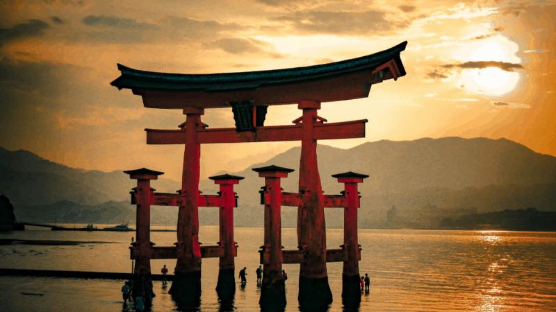 the Torrii Gate in Hiroshima