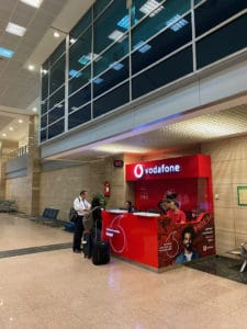 cairo airport vodafone booth