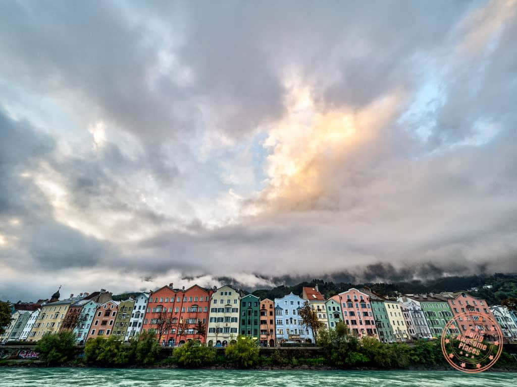 colourful row houses in innsbruck in austria 7 day itinerary