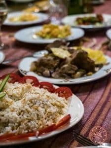 dahabiya nile cruise dinner dishes