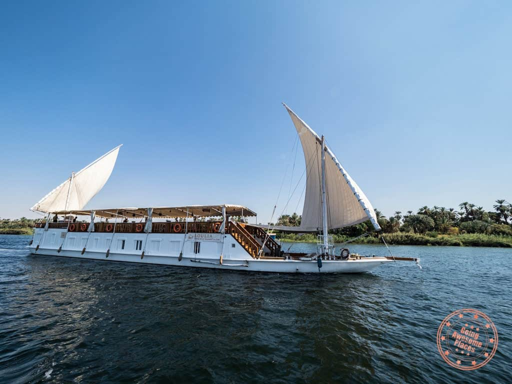 dahabiya nile cruise loulia
