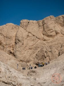 digging for hidden tombs in valley of the kings luxor egypt