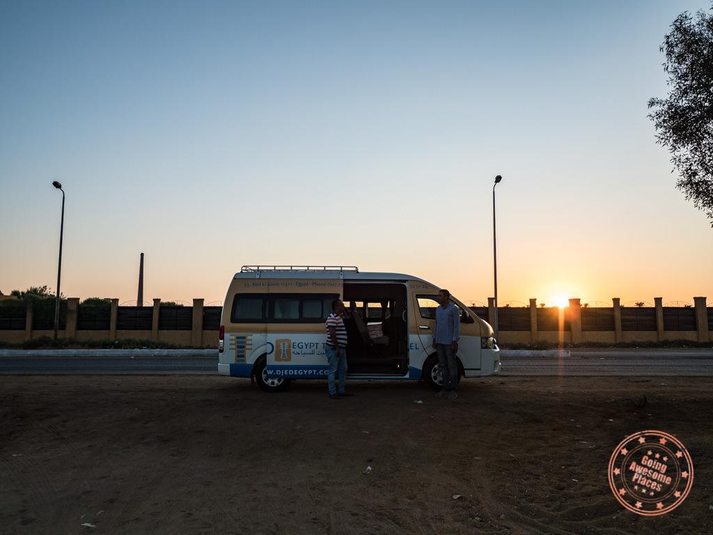 early morning djed egypt travel aswan pick up