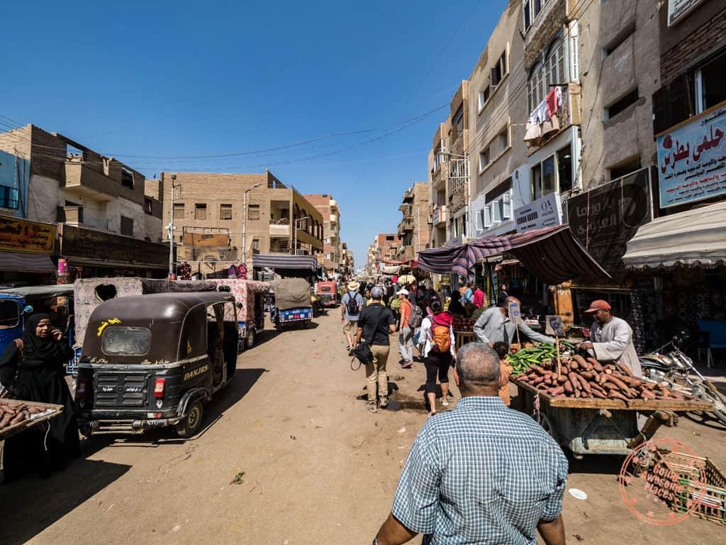 esna local market walk with djed egypt travel
