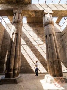 exploring luxor temple hypostyles
