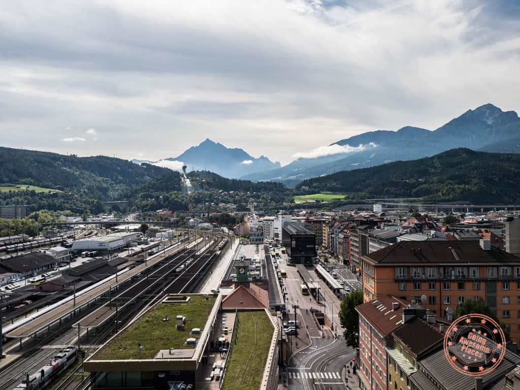 hauptbahnof view from adlers hotel restaurant
