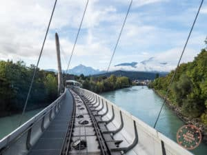 funicular crossing river hungerburgbahn