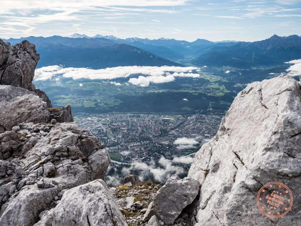 innsbruck view from nordkette austrian alps
