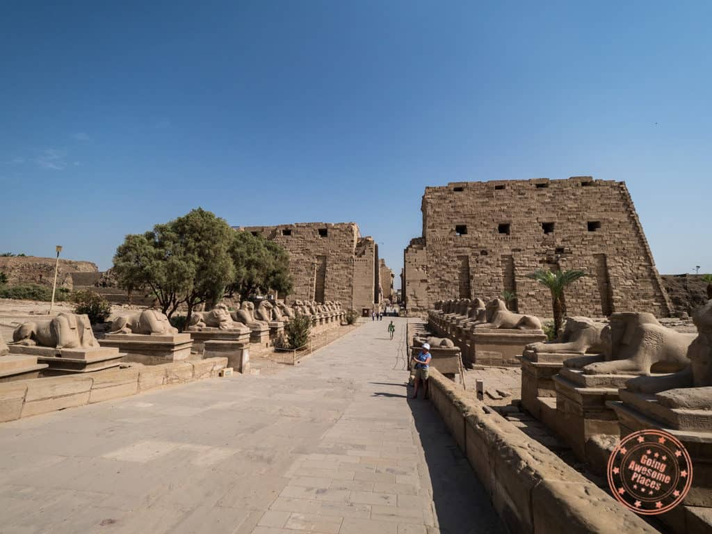 karnak temple entrance luxor egypt