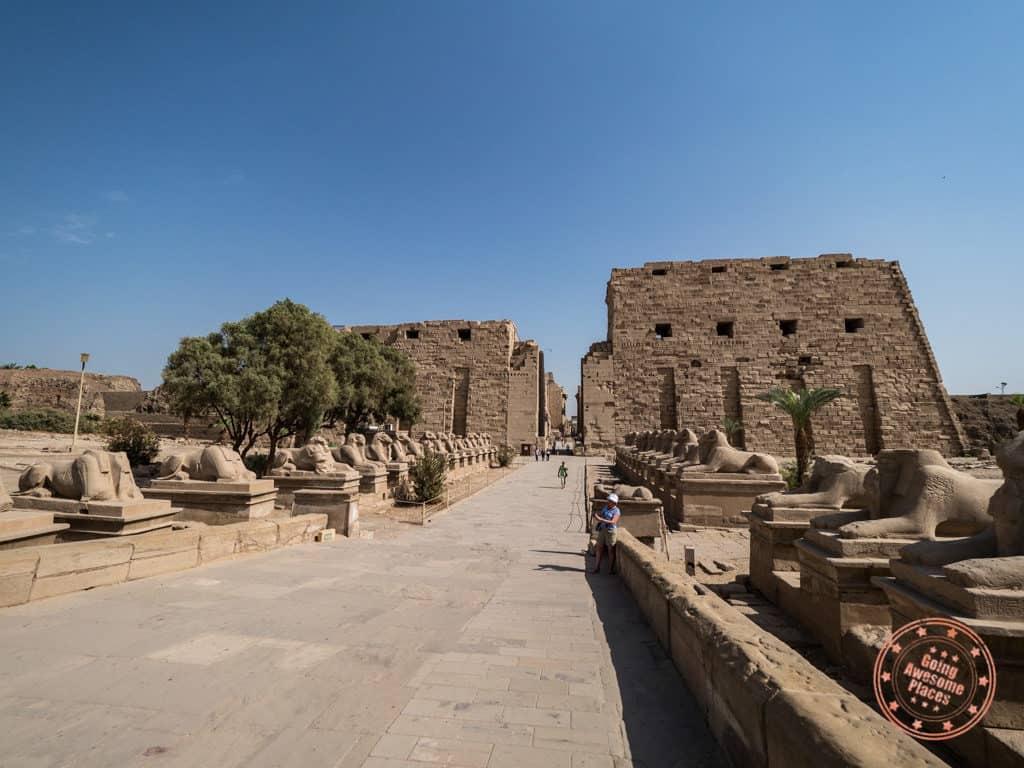 karnak temple entrance luxor egypt